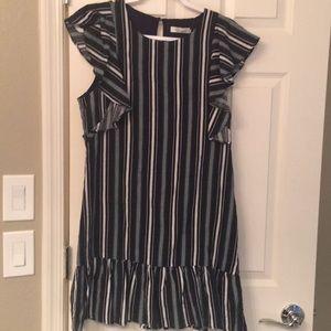 Evereve striped shift mini dress NWOT